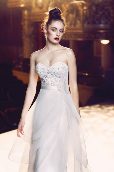 Romantic A-line Wedding Dress by Paloma Blanca - Image 1