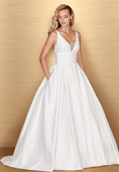 Romantic Ball Gown Wedding Dress by Paloma Blanca
