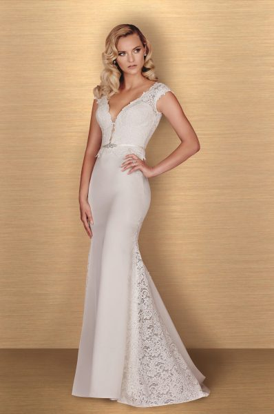 Romantic Fit And Flare Wedding Dress by Paloma Blanca - Image 1