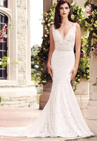 Romantic Fit And Flare Wedding Dress by Paloma Blanca