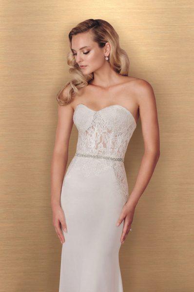 Romantic Sheath Wedding Dress by Paloma Blanca - Image 1