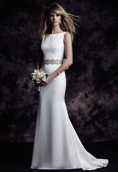 Simple Fit And Flare Wedding Dress by Paloma Blanca