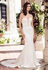 Simple Sheath Wedding Dress by Paloma Blanca - Image 1