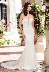 Simple Sheath Wedding Dress by Paloma Blanca - Image 1