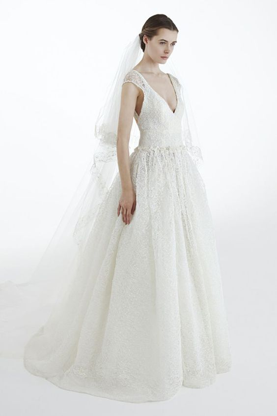 Simple Ball Gown Wedding Dress - Image 1