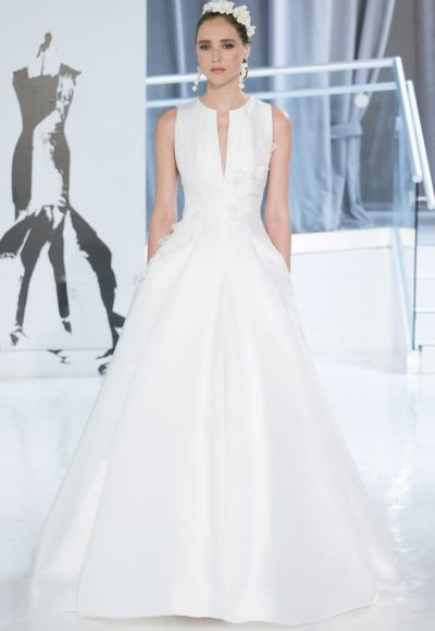 Simple Ball Gown Wedding Dress by Peter Langner