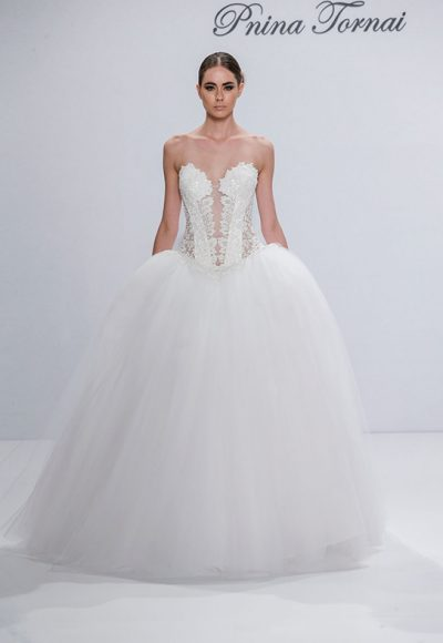 Couture Ball Gown Wedding Dress by Pnina Tornai