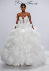 Couture Ball Gown Wedding Dress by Pnina Tornai - Image 1