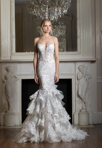 Fit and flare wedding dress kleinfeld bridal fit and flare wedding dress by pnina tornai image 1 junglespirit Images