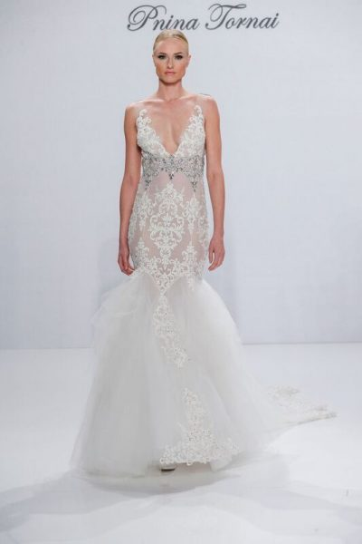 Fit And Flare Wedding Dress by Pnina Tornai - Image 1