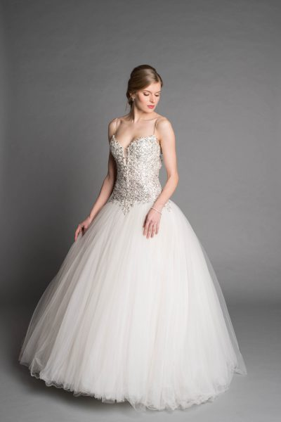 6da0307506b Modern Ball Gown Wedding Dress by Pnina Tornai - Image 1
