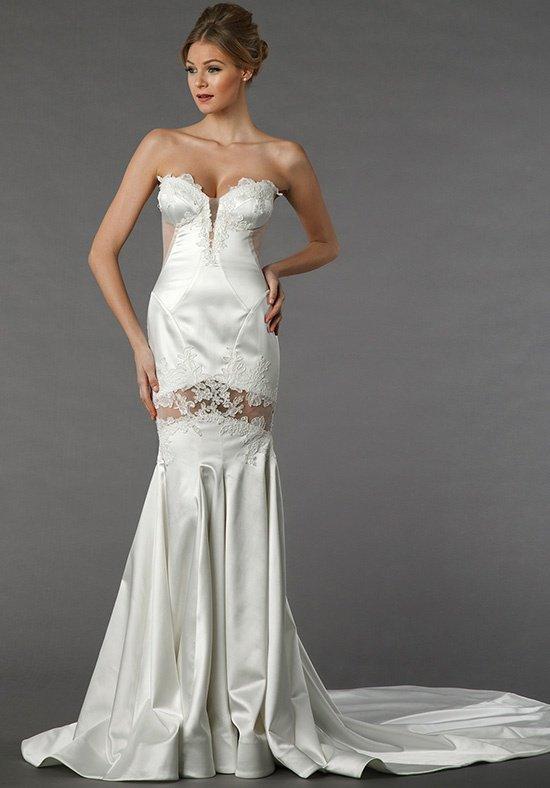 Sexy sheath wedding dress kleinfeld bridal for Sexy sheath wedding dress