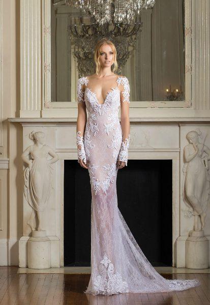 Sexy sheath wedding dress kleinfeld bridal sheath long sleeves illusion wedding dress junglespirit Images