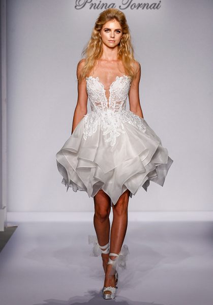 Y Short Wedding Dress By Pnina Tornai Image 1