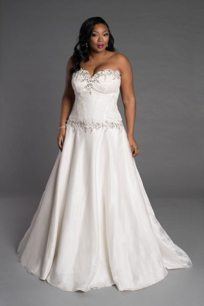 Simple A-line Wedding Dress by Pnina Tornai - Image 1