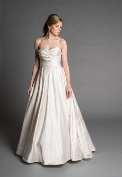 Simple Ball Gown Wedding Dress by Pnina Tornai