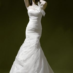 Simple Fit And Flare Wedding Dress by Pnina Tornai