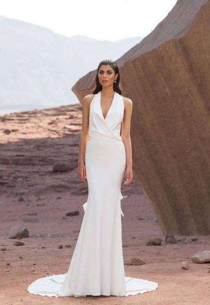 Simple Sheath Wedding Dress by Pnina Tornai - Image 1