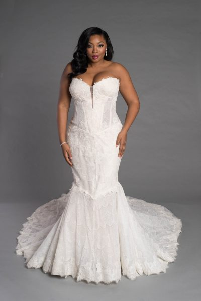 Simple Sheath Wedding Dress by Pnina Tornai - Image 1