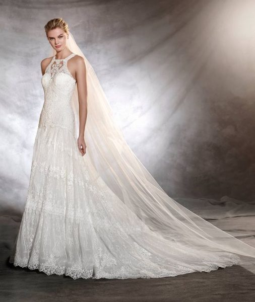 A-Line Wedding Dress by Pronovias - Image 1