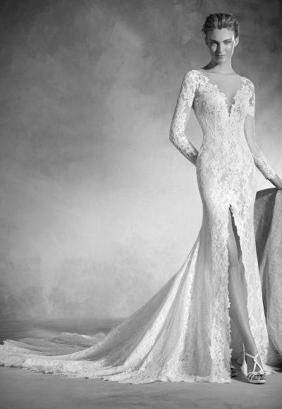 Classic Mermaid Wedding Dress by Pronovias