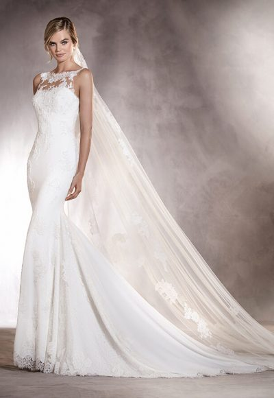 Fit and Flare Wedding Dress by Pronovias