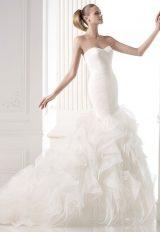 Modern Mermaid Wedding Dress by Pronovias - Image 1