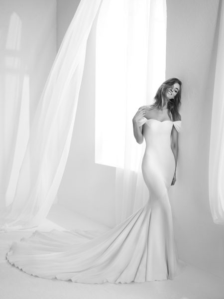 Modern Mermaid Wedding Dress by Pronovias - Image 1