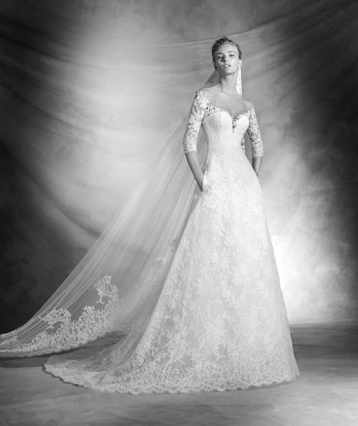 Romantic A-line Wedding Dress by Pronovias - Image 1