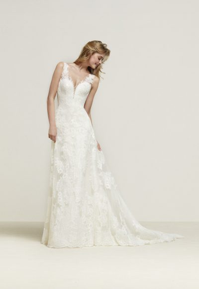 Romantic A-line Wedding Dress by Pronovias
