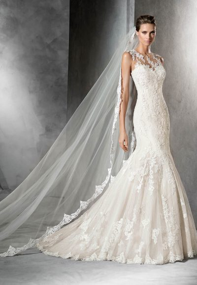 Romantic Fit And Flare Wedding Dress by Pronovias