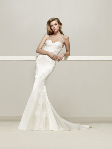 Romantic Mermaid Wedding Dress by Pronovias - Image 1