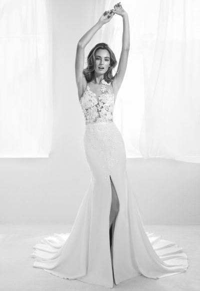 Romantic Sheath Wedding Dress by Pronovias