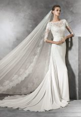 Sheath Wedding Dress by Pronovias - Image 1