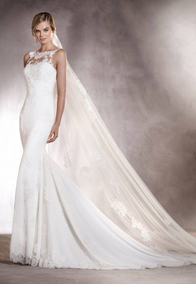 Sheath Wedding Dress by Pronovias
