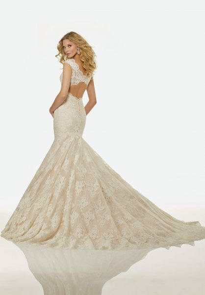 Classic Mermaid Wedding Dress by Randy Fenoli - Image 2