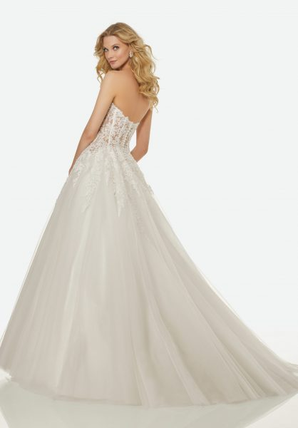 Classic Sheath Wedding Dress by Randy Fenoli - Image 2