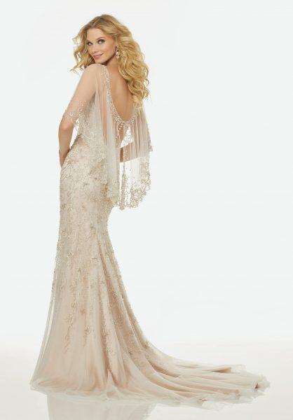 Classic Sheath Wedding Dress by Randy Fenoli - Image 2
