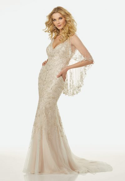 Classic Sheath Wedding Dress by Randy Fenoli