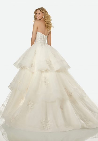 Couture Ball Gown Wedding Dress by Randy Fenoli - Image 3