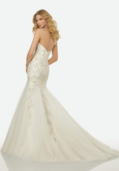 Modern Mermaid Wedding Dress by Randy Fenoli - Image 2