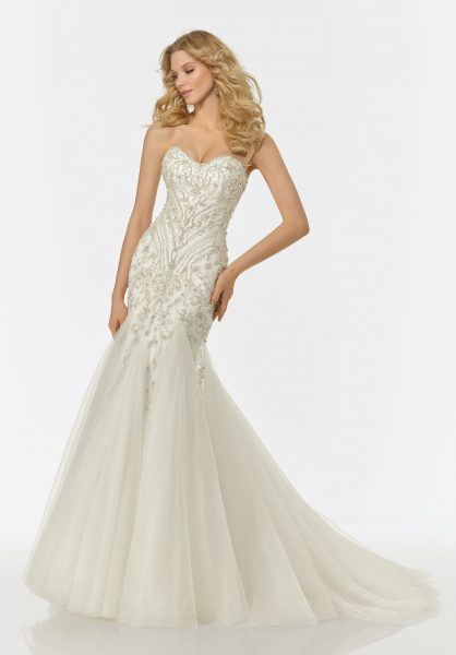Modern Mermaid Wedding Dress by Randy Fenoli - Image 1