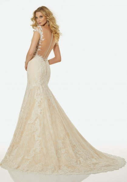Modern Fit and Flare Wedding Dress by Randy Fenoli - Image 2