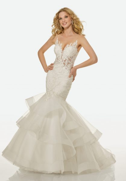 Romantic Mermaid Wedding Dress by Randy Fenoli - Image 1