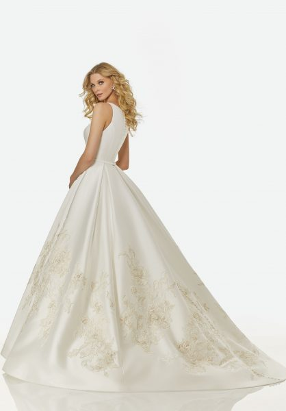 Simple Ball Gown Wedding Dress by Randy Fenoli - Image 2