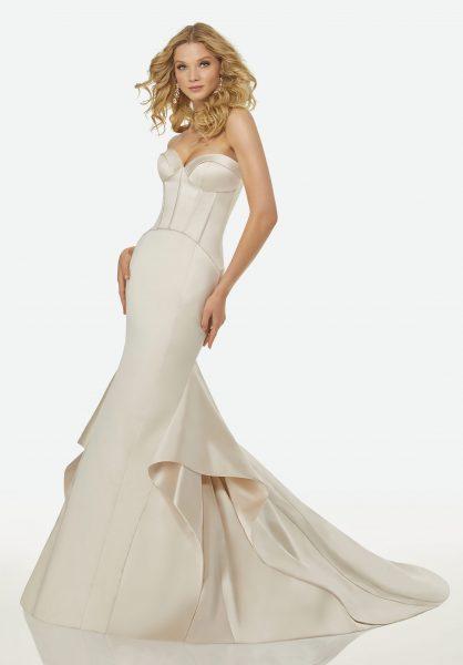 Simple Mermaid Wedding Dress by Randy Fenoli - Image 1