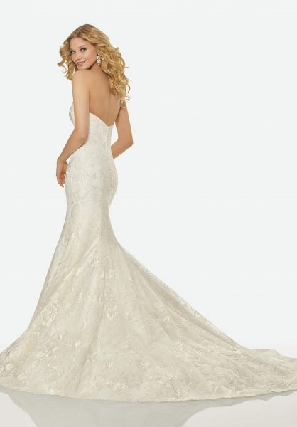 Simple Mermaid Wedding Dress by Randy Fenoli - Image 2