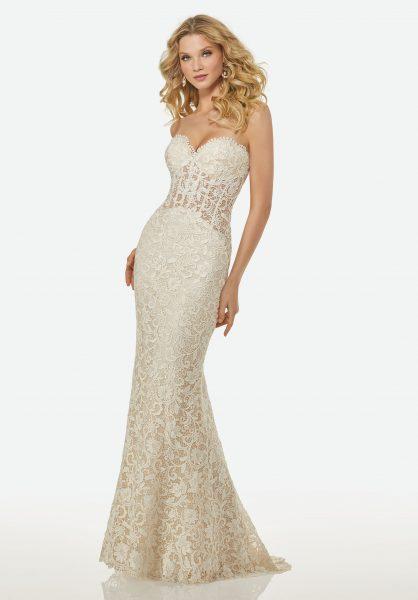 Simple Sheath Wedding Dress by Randy Fenoli - Image 1