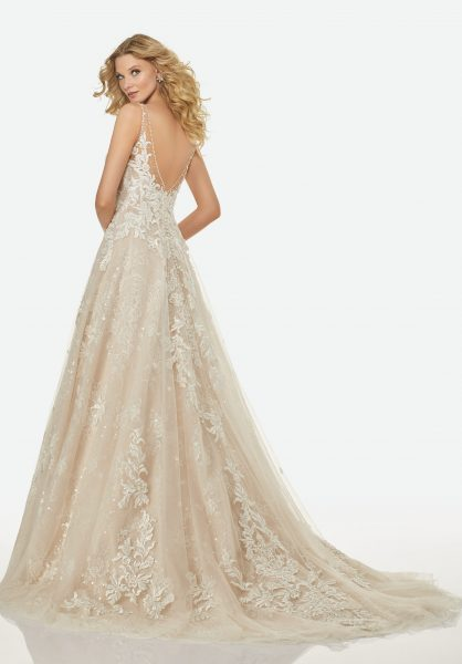 Trendy A-line Wedding Dress by Randy Fenoli - Image 2