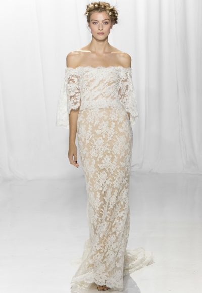 Bohemian Sheath Wedding Dress by Reem Acra
